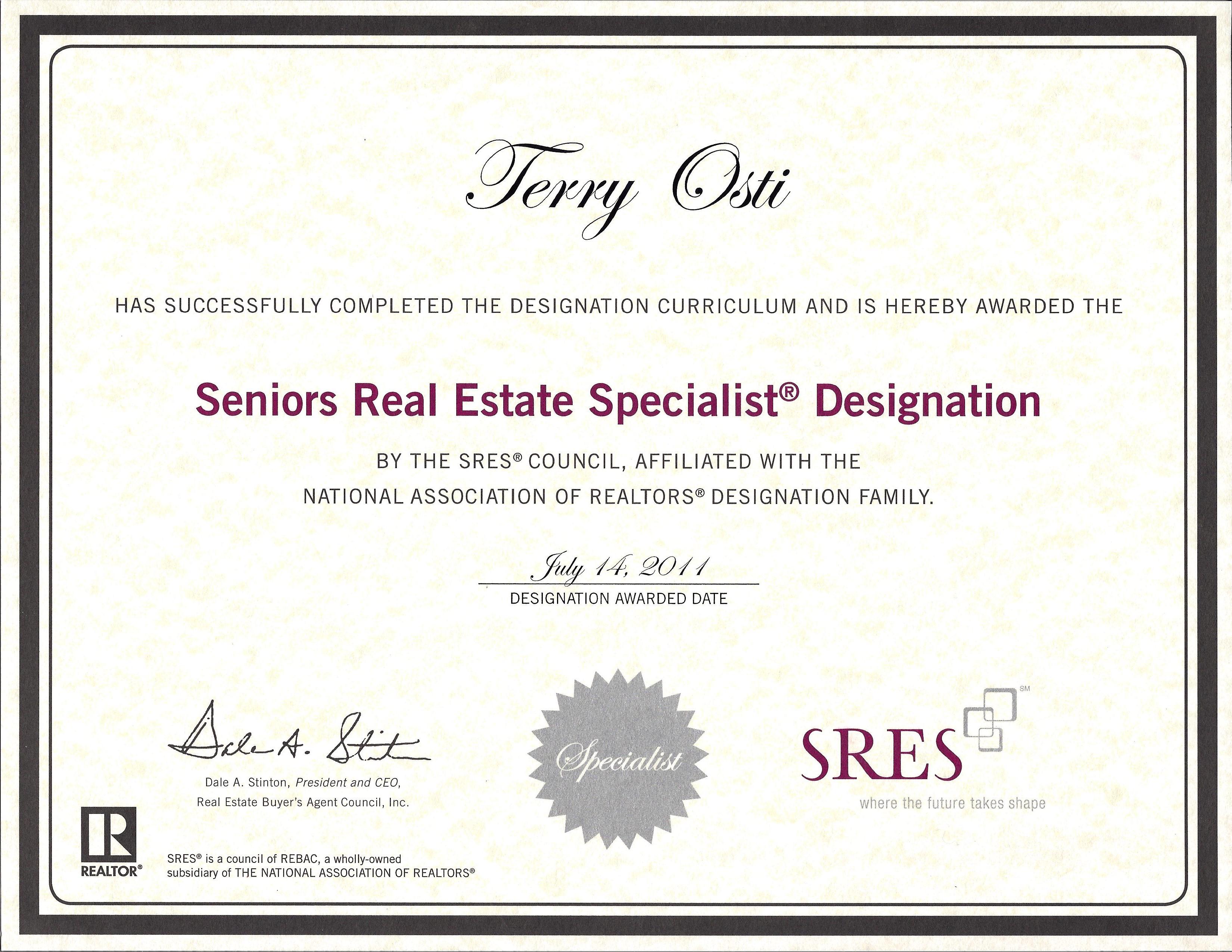 Seniors Real Estate Specialist  image