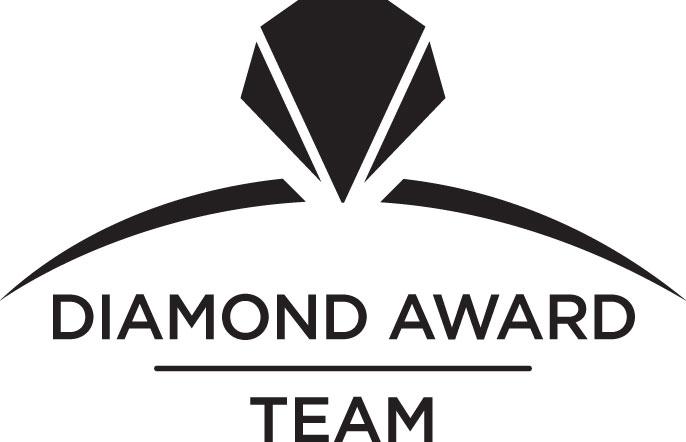 DIAMOND AWARD<br /> REAL ESTATE TEAM<br /> 2016 - 2017 image