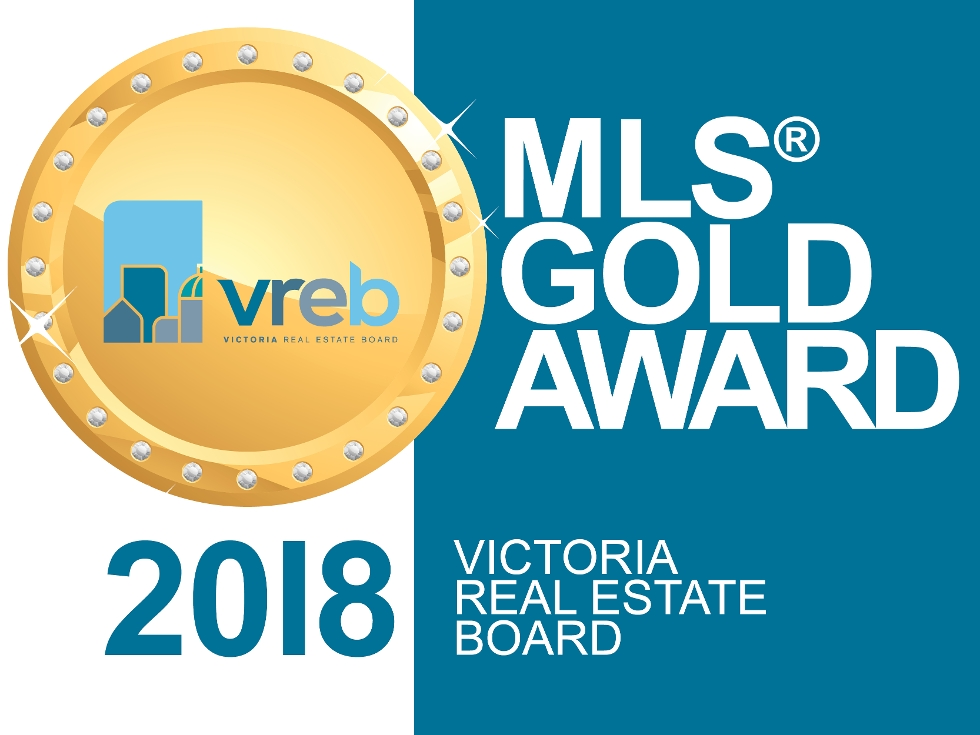2018 MLS Gold Award, The Greater Victoria Real Estate Board <br />