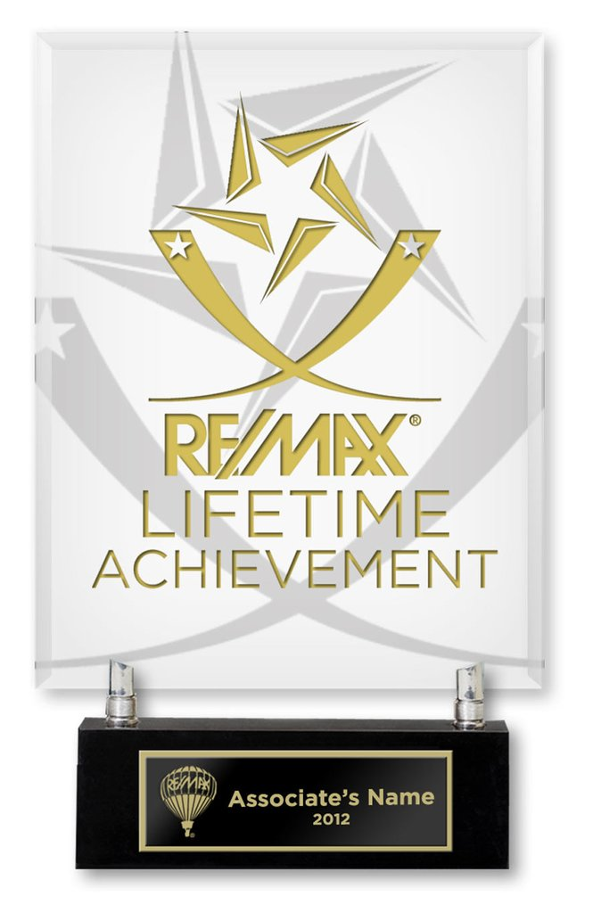 Lifetime Achievement is awarded to the agents who achieve a sales goal in their career. image